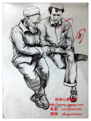 杭州心桥画室速写