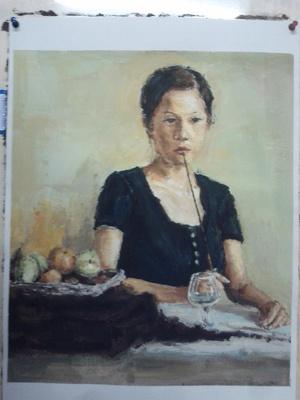 杭州心桥画室水粉肖像