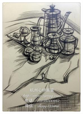 杭州心桥画室结构素描